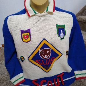 Vintage Inner View Scouts Patch Collar Sweater